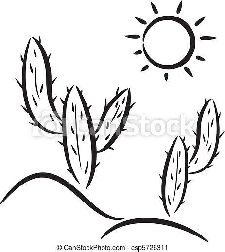 Cactus en el desierto - csp5726311