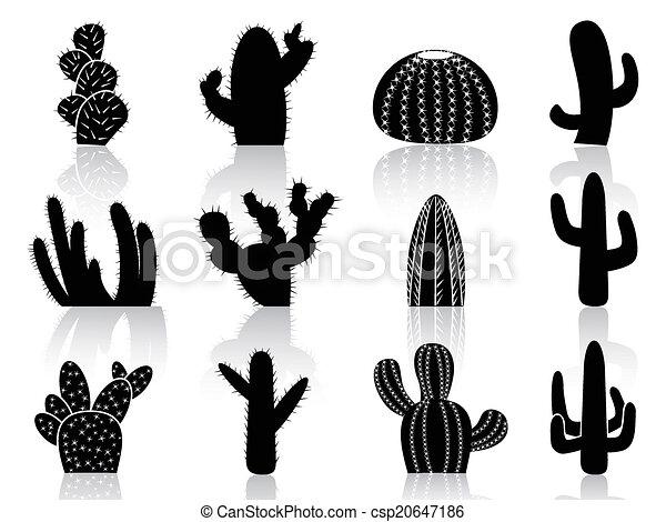 cactus Silhouettes - csp20647186