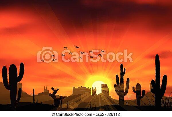 Cactus trees - csp27826112