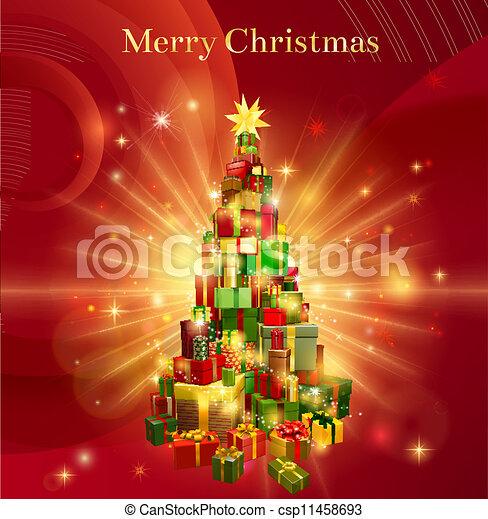 Cadeau Boompje Ontwerp Zalige Kerst Rood