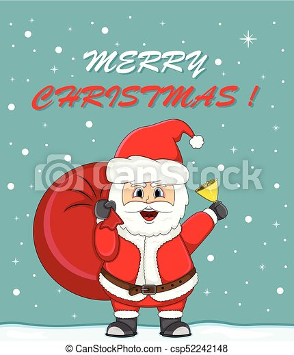 Cadeau Claus Noël Sac Santa Dessin Animé Carte