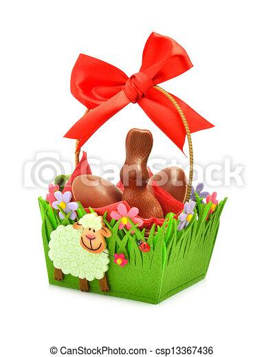 Cadeau Eitjes Chocolade Mand Paashaas Cadeau Eitjes