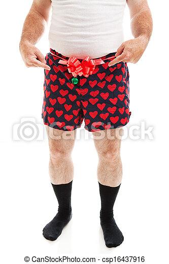 cadeau, -, sexy, kerstmis, vuistvechters, kerel - csp16437916
