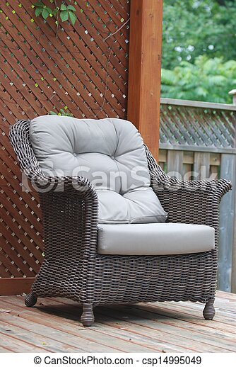 cadeira wicker - csp14995049