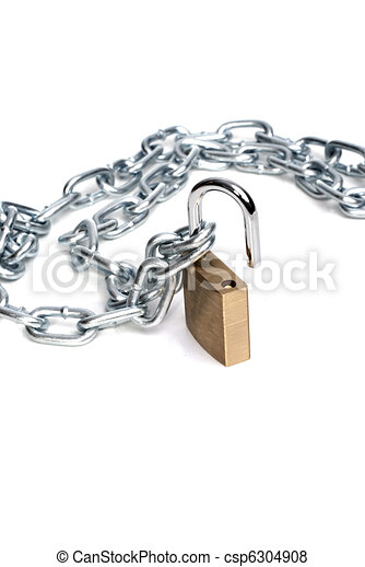Abre candado y cadena - csp6304908