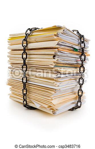 cadena, archivo, pila - csp3483716