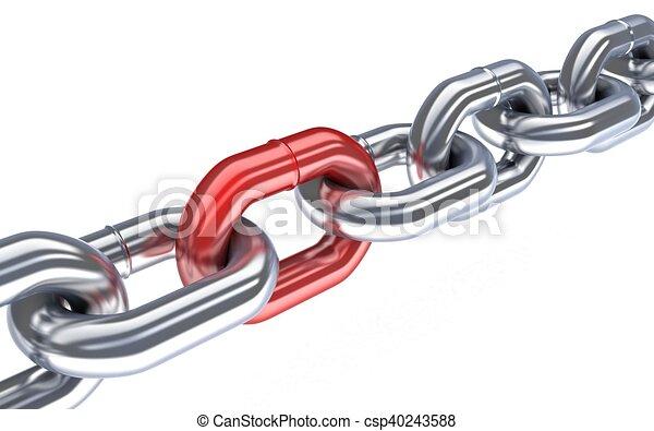 cadena, rojo - csp40243588