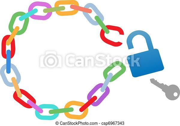 Escapo de la cadena del círculo roto - csp6967343