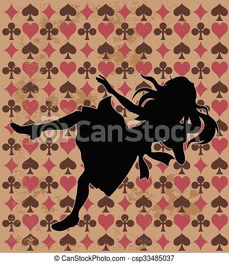 cadere, silhouette, alice - csp33485037