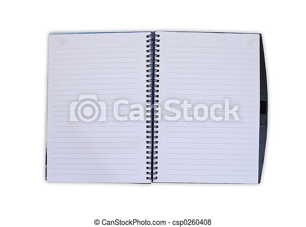caderno, abertos - csp0260408
