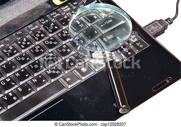 caderno, computer. - csp12928207