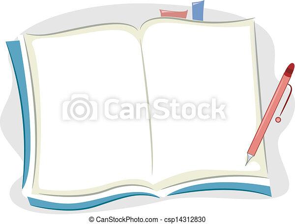 caderno, em branco - csp14312830