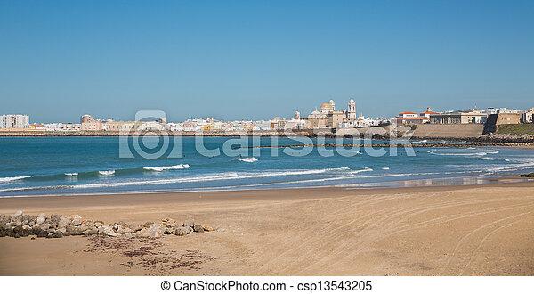 Cadiz and ocean - csp13543205