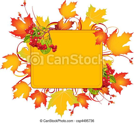 cadre, automne - csp4495736