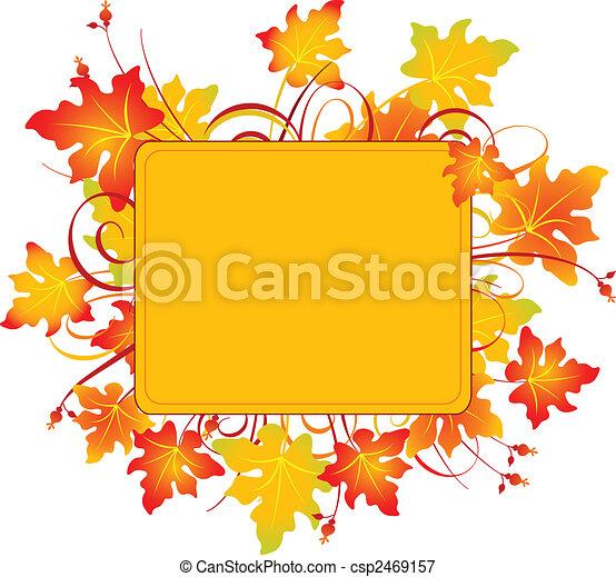 cadre, automne - csp2469157