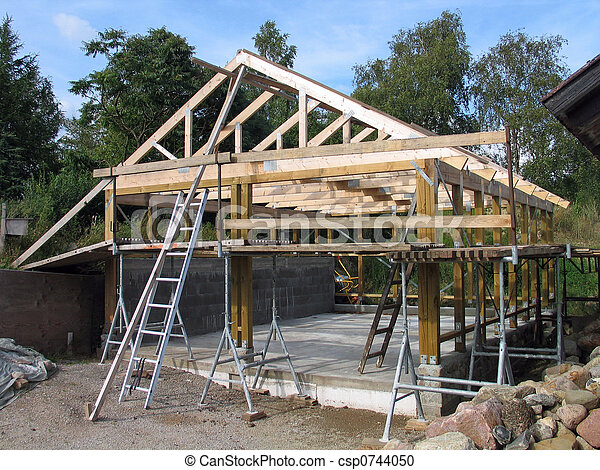 cadre bois, construction - csp0744050