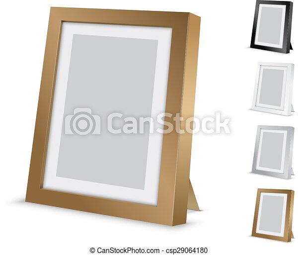 Cadre Bureau Image Frame Illustration Or Couleurs Vecteur Noir Vide Bureau Autre Canstock