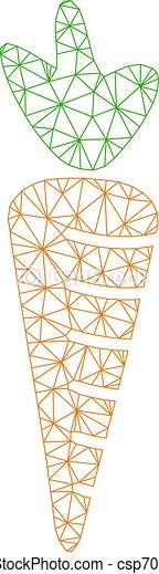 cadre, carotte, illustration, polygonal, vecteur, maille - csp70052080