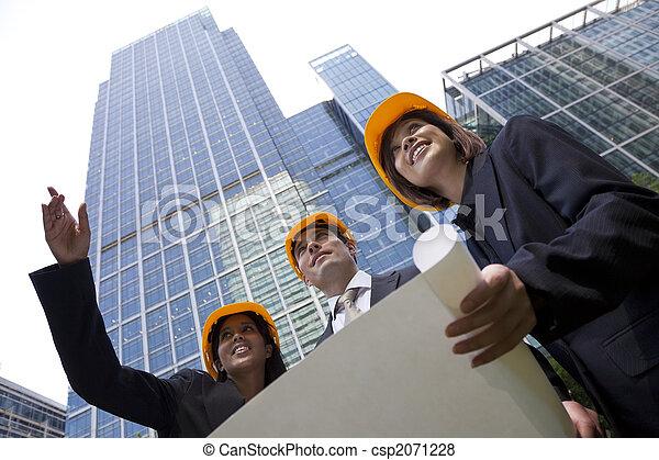 cadre, construction, équipe - csp2071228