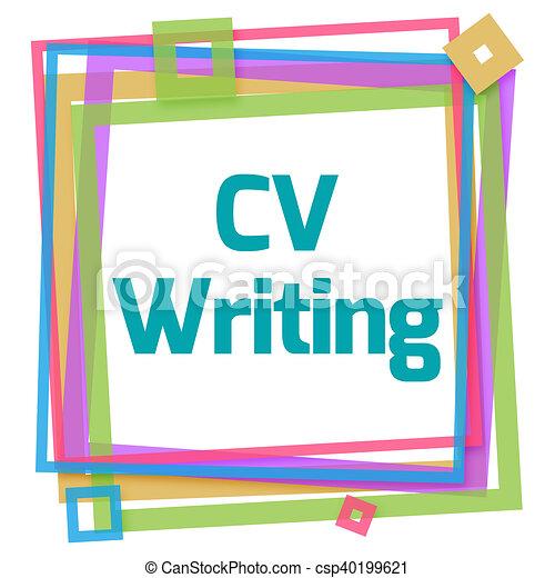 Cadre Cv Coloré écriture