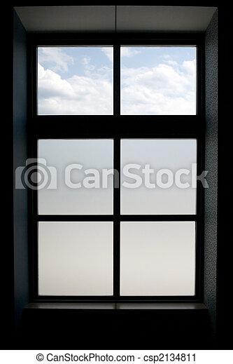 Cadre Fenêtre Inférieur Panes Moderne Verre Dépoli Fenêtre