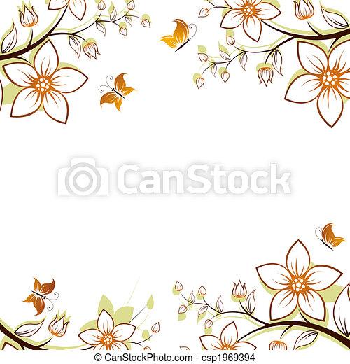 Cadre Fleur Arbre