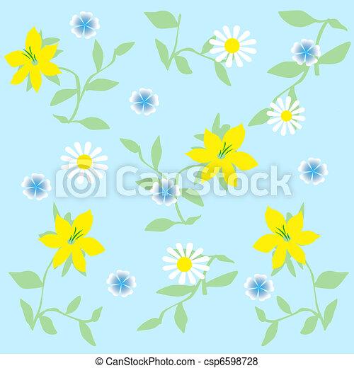 cadre fleur jaune bleu illustration jaune album illustration de stock recherchez des. Black Bedroom Furniture Sets. Home Design Ideas
