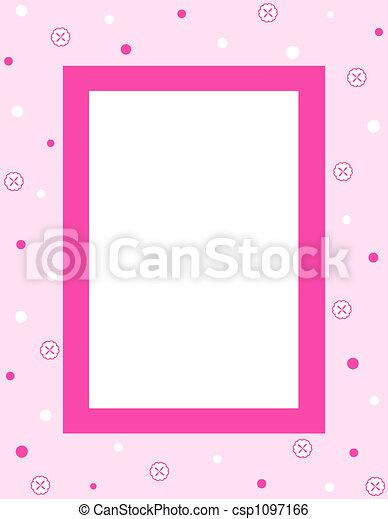 cadre, fleurs - csp1097166
