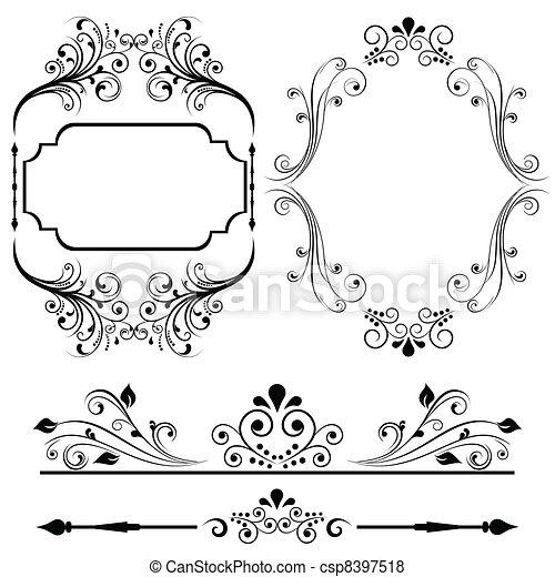 cadre, frontière, conceptions - csp8397518