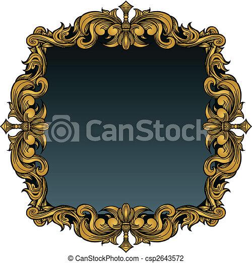 cadre graphique, royal - csp2643572
