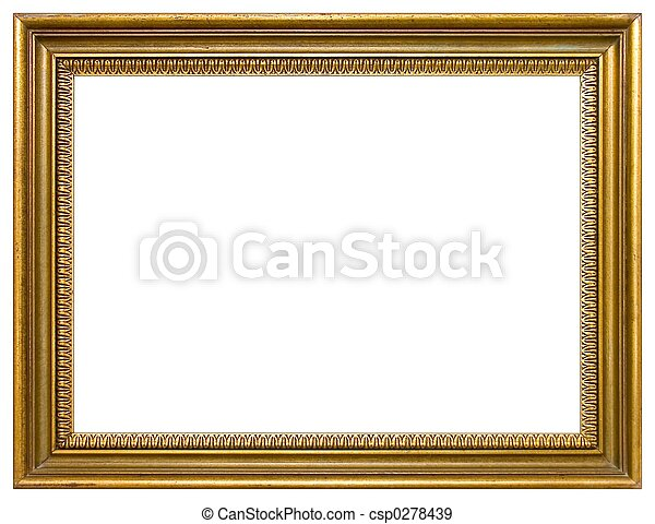 Cadre Vide cadre graphique, vide. cadre, vide, or, isolé.