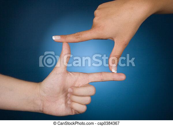 cadre, hands' - csp0384367