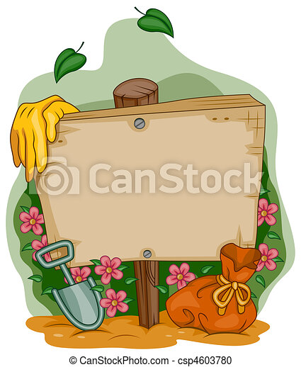 cadre, jardin - csp4603780