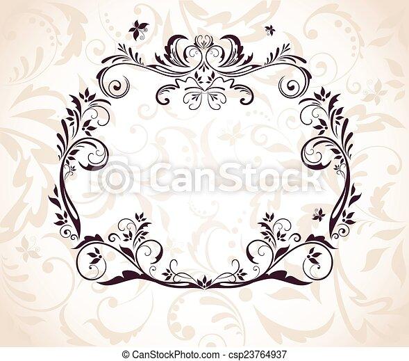 cadre, mariage - csp23764937