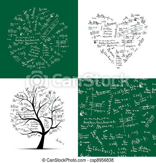 cadre, seamless, arbre, fond, collection:, math - csp8956838