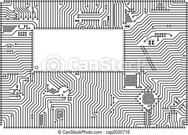 cadre, vecteur, high-tech, circuit électronique - csp2030716