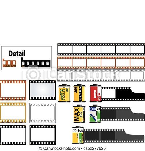 cadres, 35 mm glissent, pellicule - csp2277625