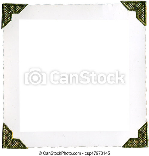 cadres, photo, coins - csp47973145