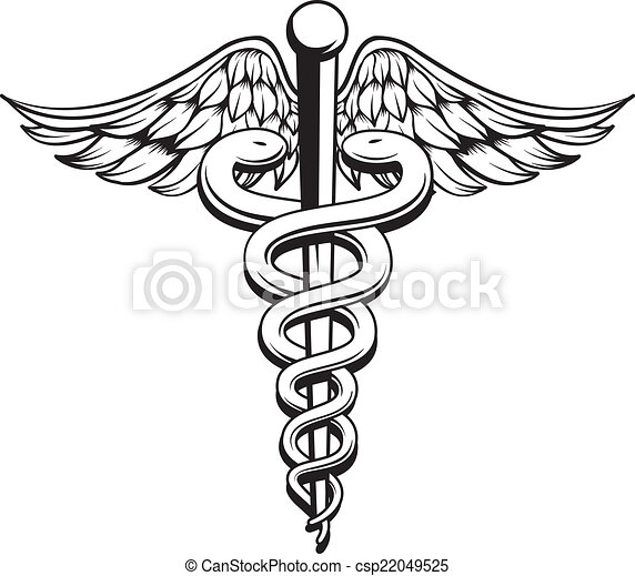 caduceus illustrations and clipart 7 379 caduceus royalty free rh canstockphoto com medical cross symbol clip art medical alert symbol clip art
