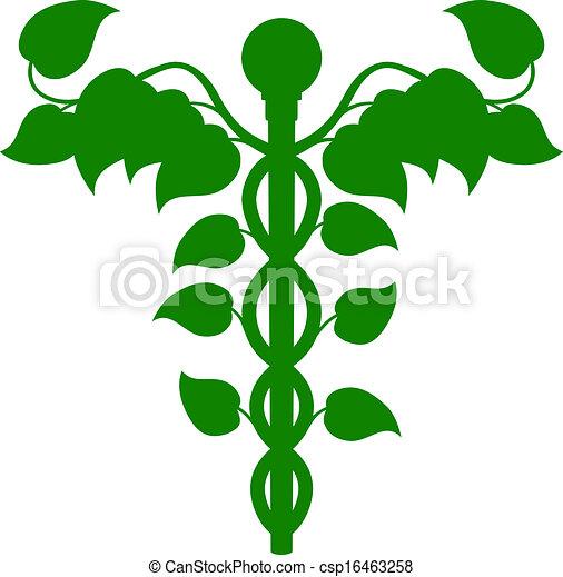 Caduceus DNA or holistic medicine concept - csp16463258