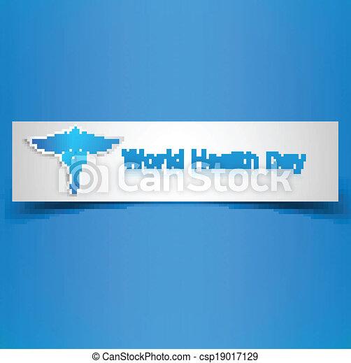 Caduceus medical symbol beautiful World health day colorful background illustration - csp19017129