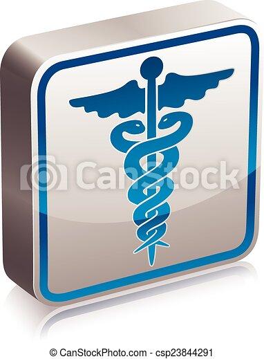 Caduceus medical symbol. - csp23844291