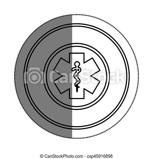 caduceus medical symbol icon - csp45916898