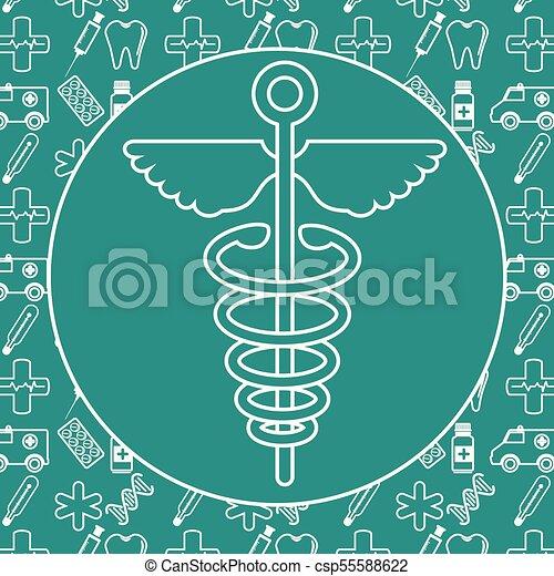 caduceus medical symbol - csp55588622