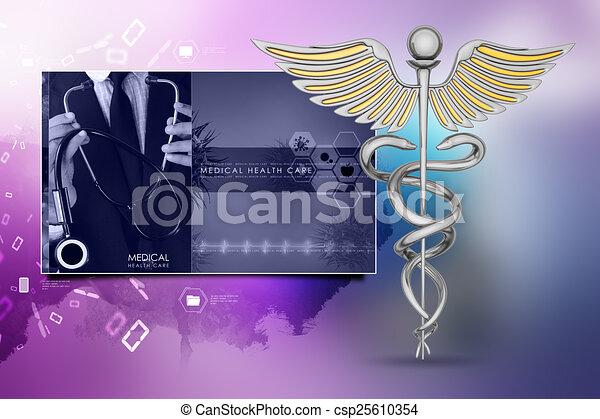 caduceus medical symbol - csp25610354