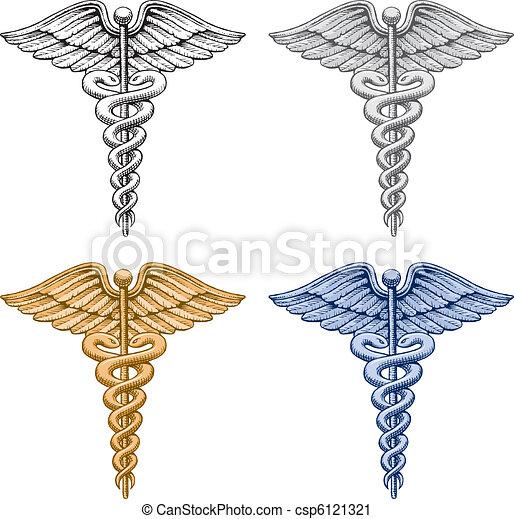 Caduceus Medical Symbol - csp6121321
