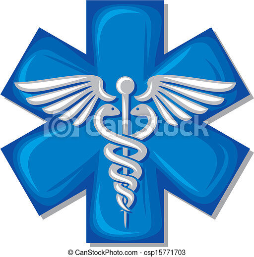 caduceus medical symbol - csp15771703