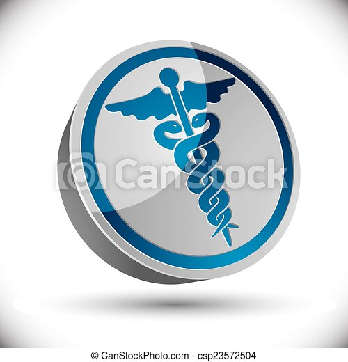 Caduceus medical symbol. - csp23572504
