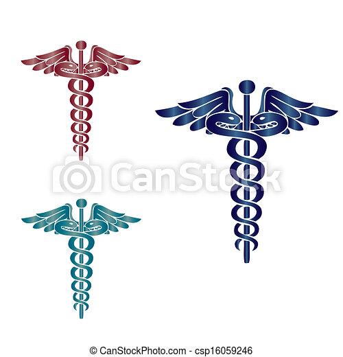 caduceus, symbool, medisch - csp16059246