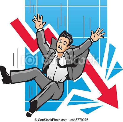 La economía en decadencia - csp5779076
